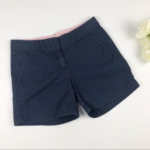 J. Crew Boken-In Chino Navy 100% Cotton Shorts